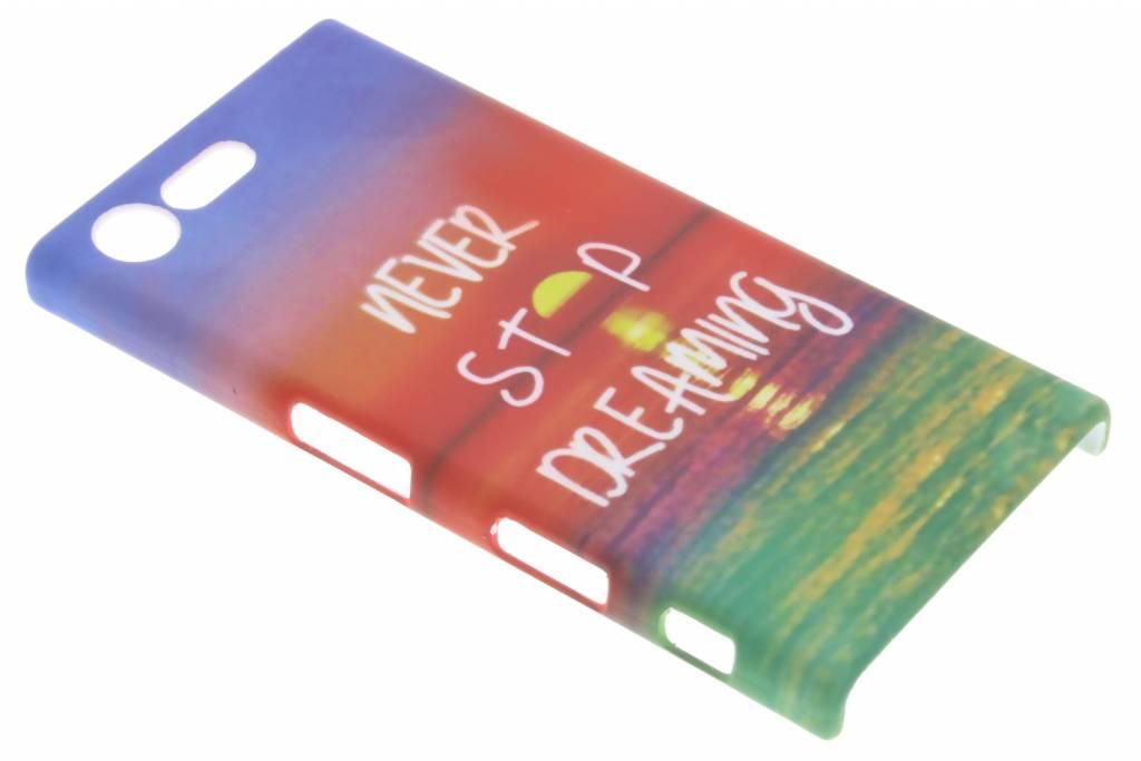 Never stop dreaming design hardcase hoesje voor de Sony Xperia X Compact