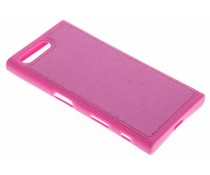 Metallic lederen TPU case Sony Xperia X Compact