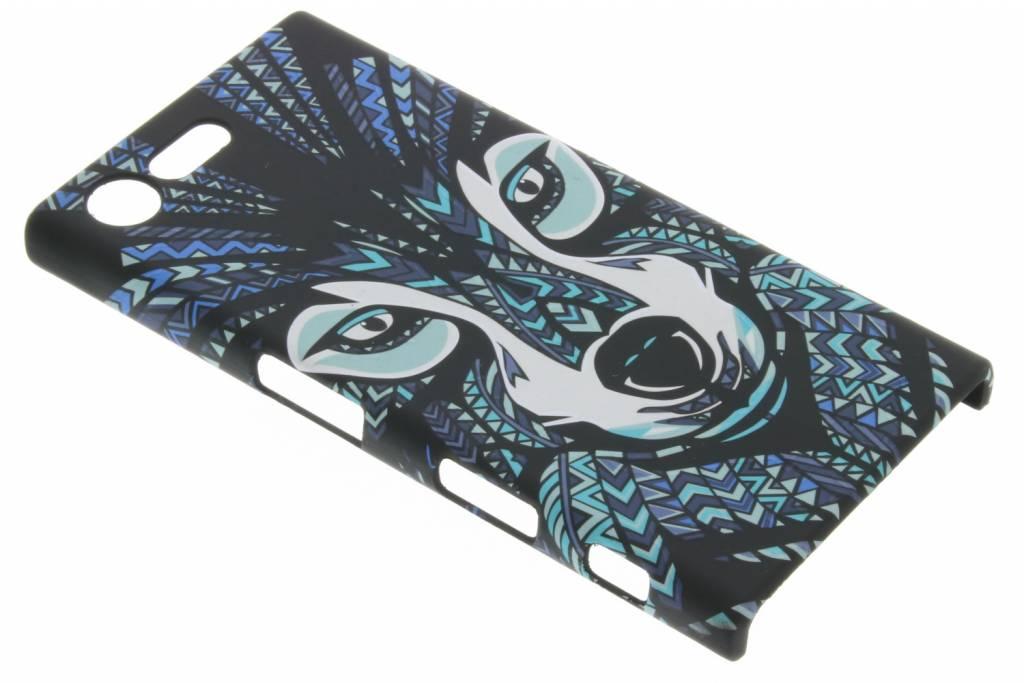 Wolf aztec animal design hardcase hoesje voor de Sony Xperia X Compact