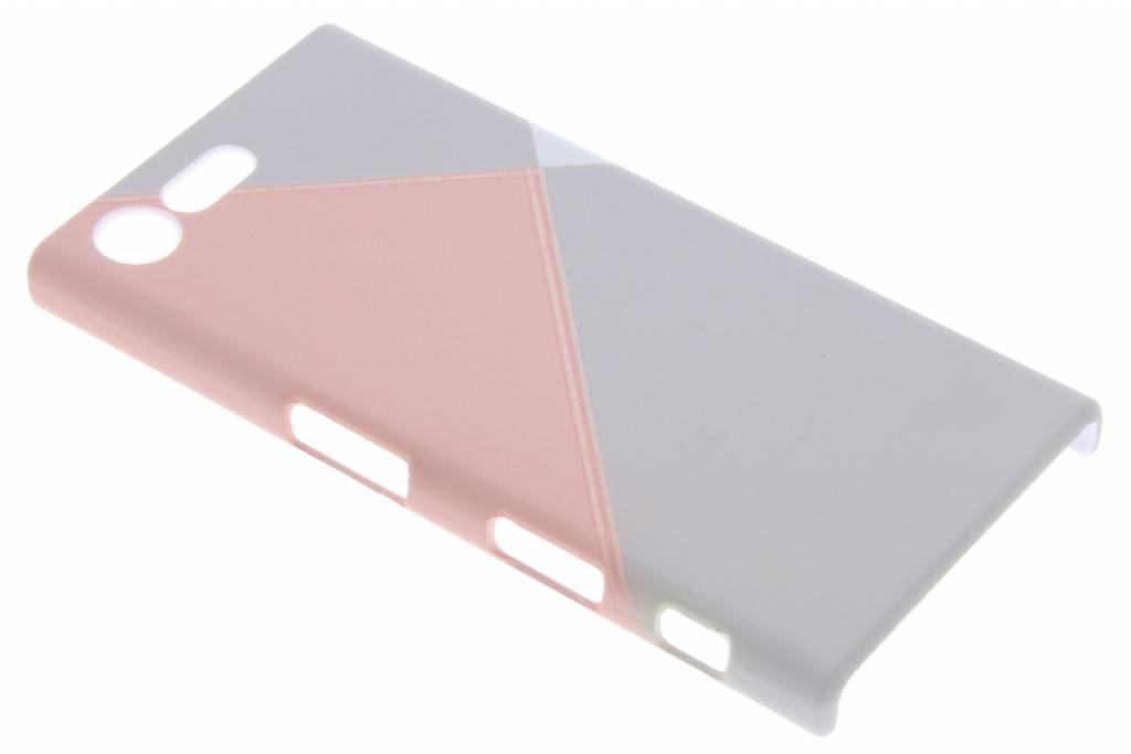 Pastelkleurig vlakken design hardcase hoesje voor de Sony Xperia X Compact