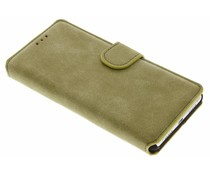 Groen suède look booktype hoes Huawei P9 Lite