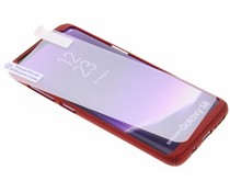 Rood 360° effen protect case Samsung Galaxy S8