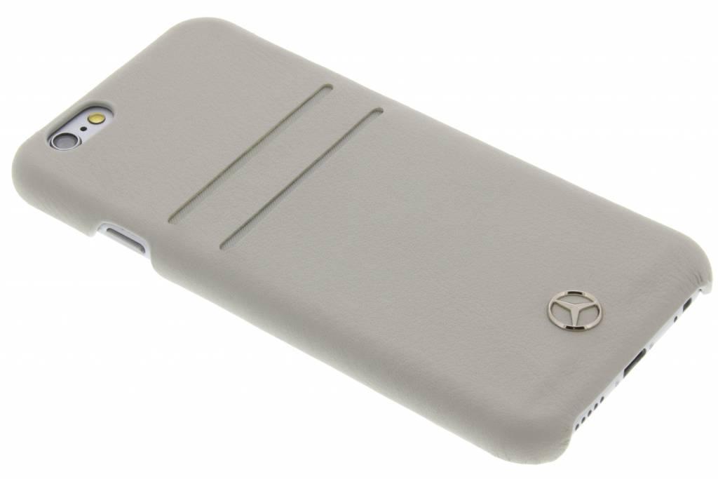 Mercedes-Benz Pure Line Leather Hard Case with slots voor de iPhone 6 / 6s - Grey
