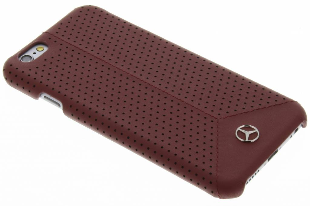 Mercedes-Benz Pure Line Perforated Leather hardcase voor de iPhone 6 / 6s - Red