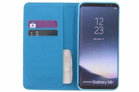 Conception Sourire Cas Booktype Tpu Pour Samsung Galaxy S8, Plus