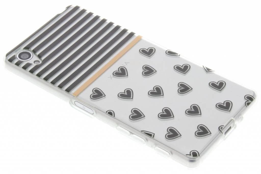 Streep design TPU siliconen hoesje voor de Sony Xperia X