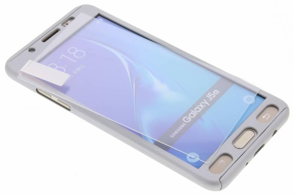 Zilveren 360° effen protect case voor de Samsung Galaxy J5 (2016)