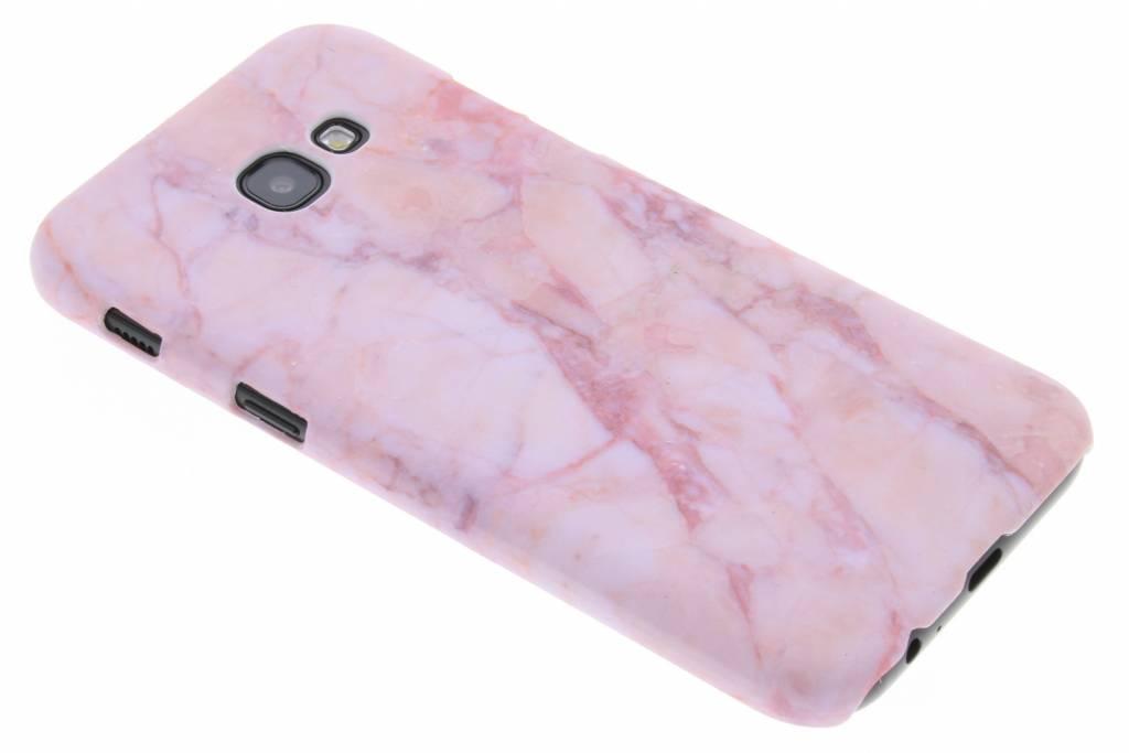 Roze marmer design hardcase hoesje voor de Samsung Galaxy A5 (2017)