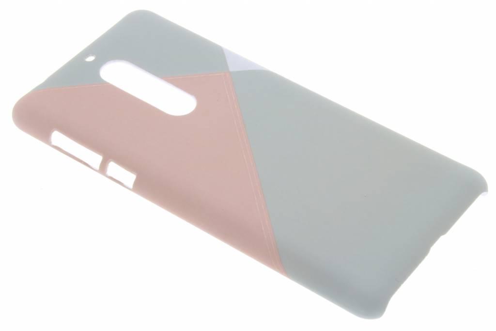 Pastelkleurig vlakken design hardcase hoesje voor de Nokia 5