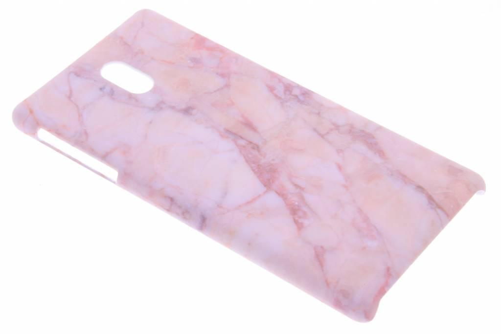 Roze marmer design hardcase hoesje voor de Nokia 3