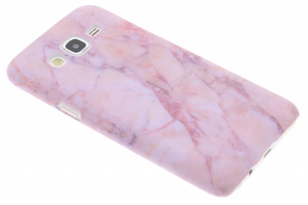 Roze marmer design hardcase hoesje voor de Samsung Galaxy J5