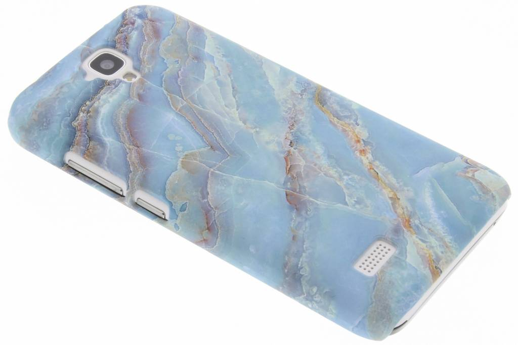 Blauw marmer design hardcase hoesje voor de Huawei Y5