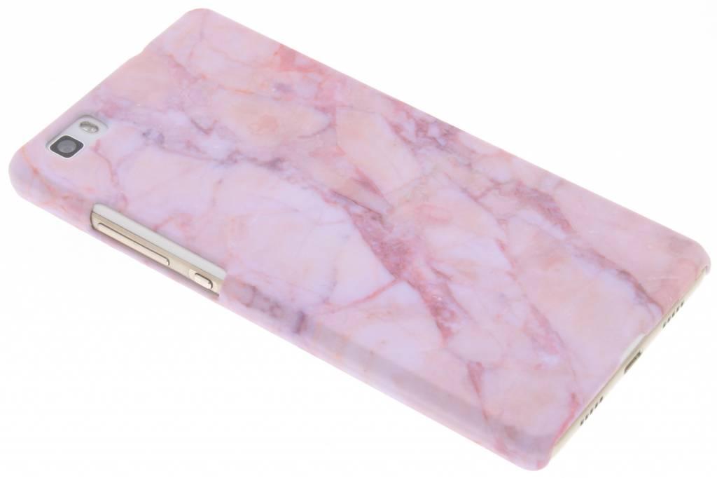 Roze marmer design hardcase hoesje voor de Huawei P8 Lite