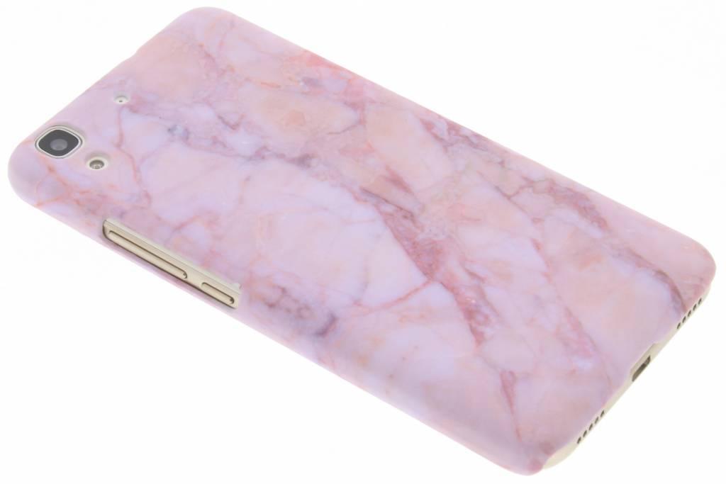 Roze marmer design hardcase hoesje voor de Huawei Y6