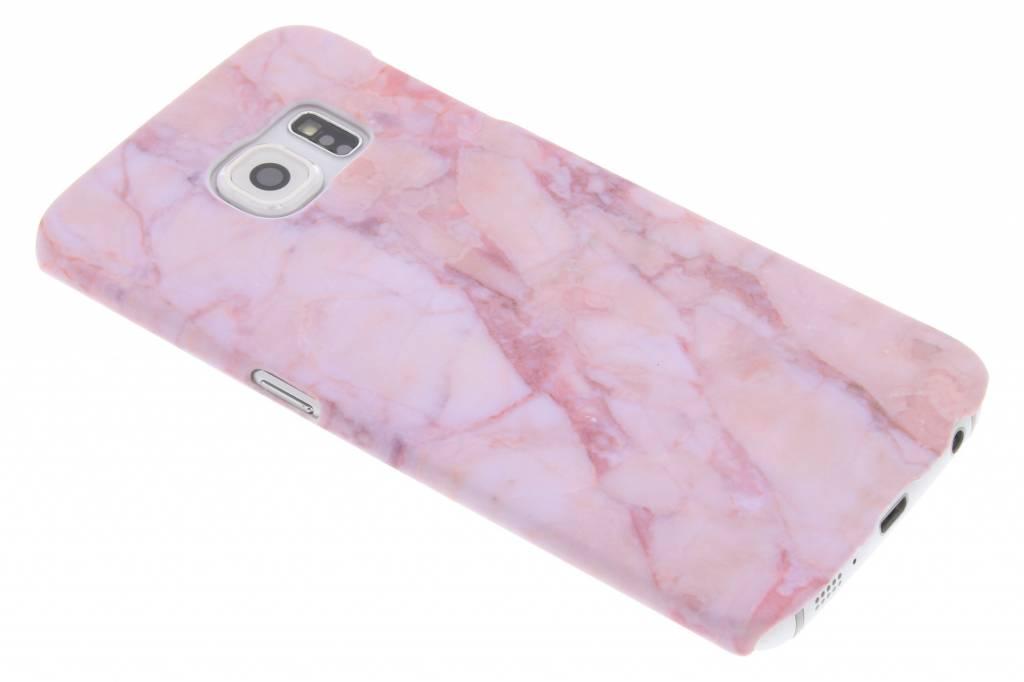 Roze marmer design hardcase hoesje voor de Samsung Galaxy S6 Edge
