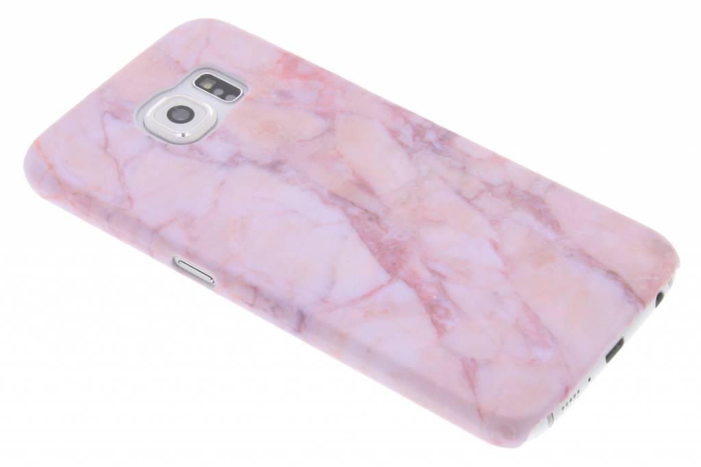Roze marmer design hardcase hoesje voor de Samsung Galaxy S6