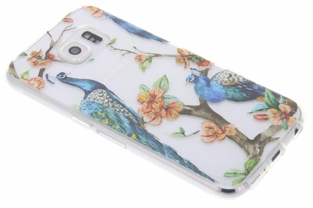 Peacock design TPU hoesje voor de Samsung Galaxy S6