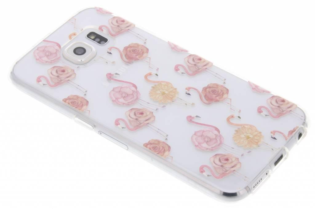 Flamingo TPU hoesje voor de Samsung Galaxy S6