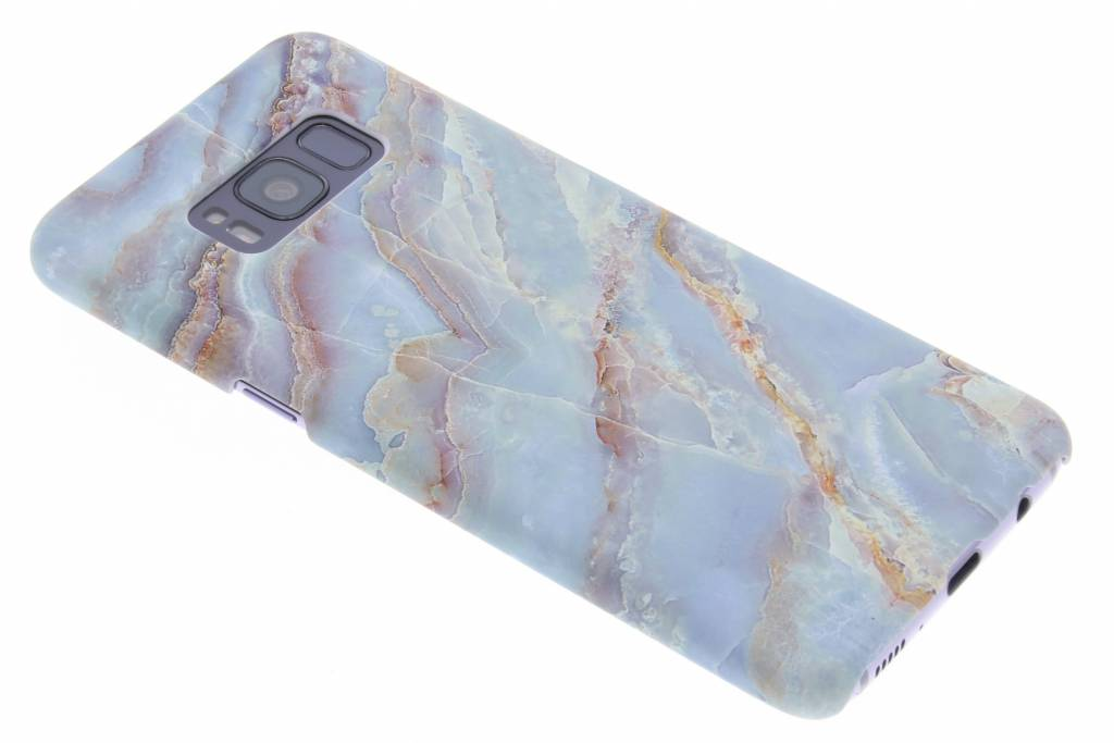 Blauw marmer design hardcase hoesje voor de Samsung Galaxy S8