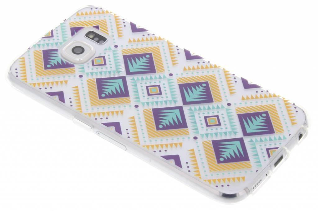 Aztec design TPU hoesje voor de Samsung Galaxy S6