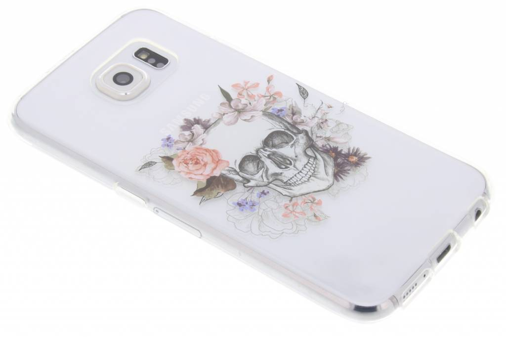 Skull design TPU hoesje voor de Samsung Galaxy S6