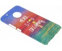 Cas De Gel Transparent Rose Pour Motorola Moto G5, Plus