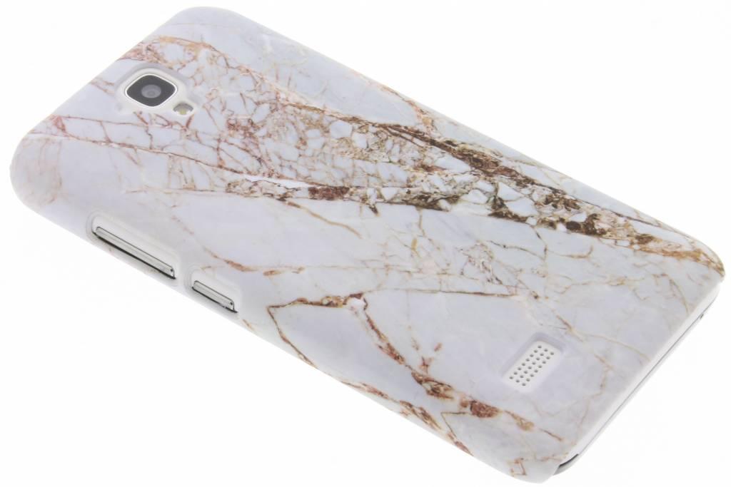 Wit marmer design hardcase hoesje voor de Huawei Y5
