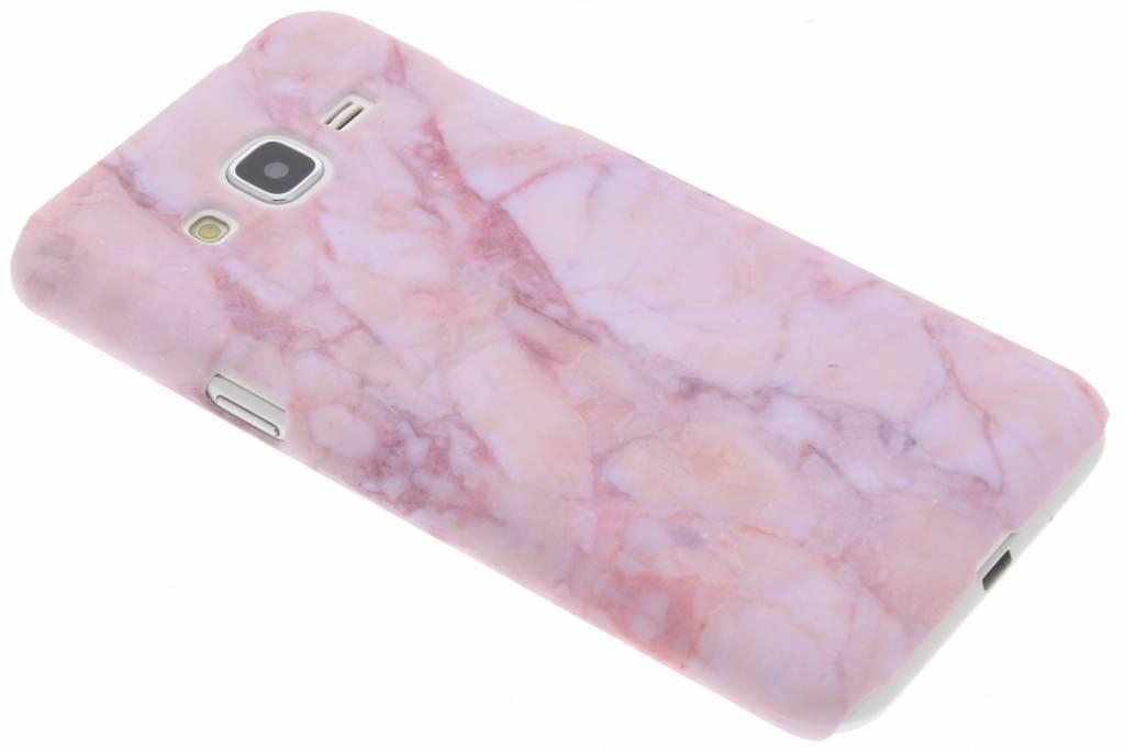 Roze marmer design hardcase hoesje voor de Samsung Galaxy J3 / J3 (2016)