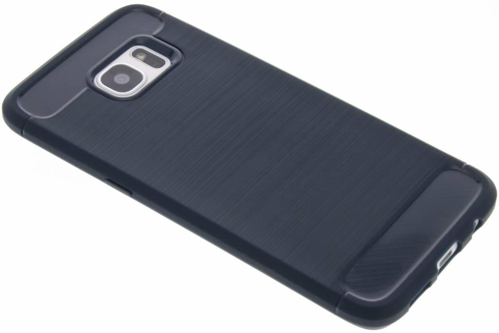 Donkerblauwe Brushed TPU case voor de Samsung Galaxy S7 Edge