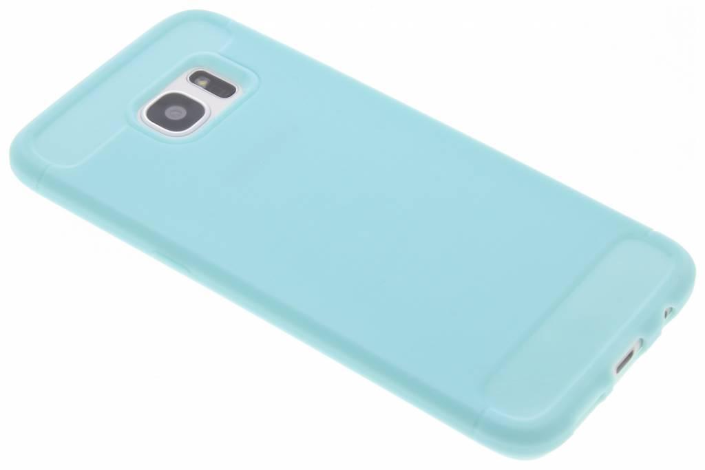 Turquoise Brushed TPU case voor de Samsung Galaxy S7 Edge