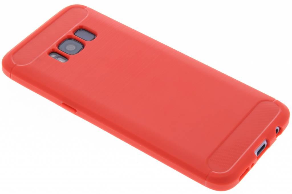 Rode Brushed TPU case voor de Samsung Galaxy S8