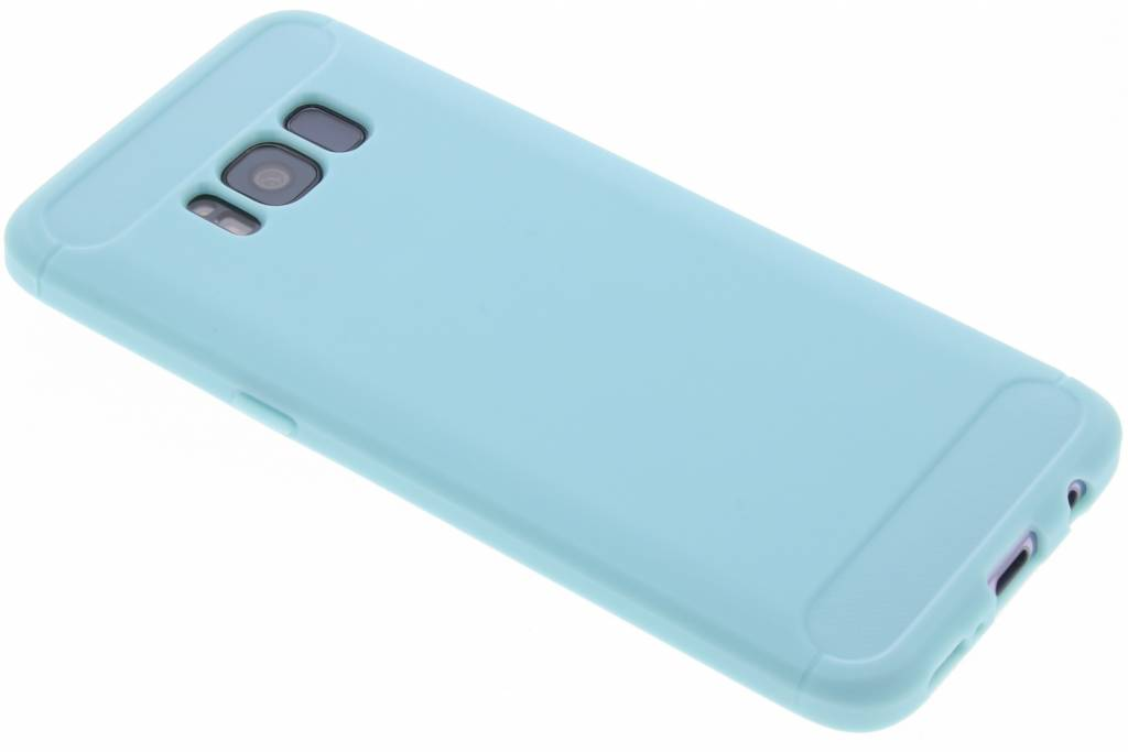 Turquoise Brushed TPU case voor de Samsung Galaxy S8