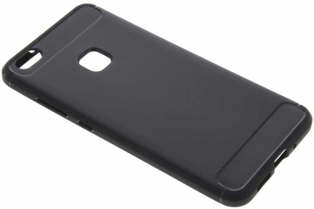 Zwarte Brushed TPU case voor de Huawei P10 Lite