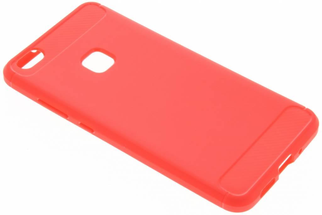 Rode Brushed TPU case voor de Huawei P10 Lite