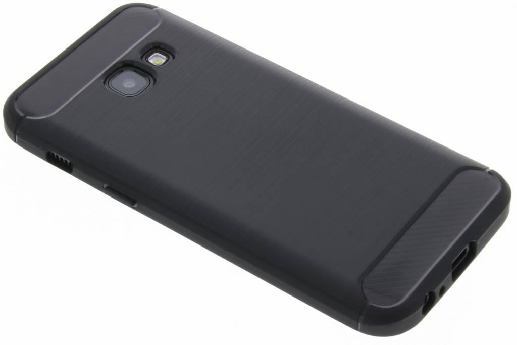 Brossé Cas Tpu Noir Pour Samsung Galaxy A3 (2017) bWCyV