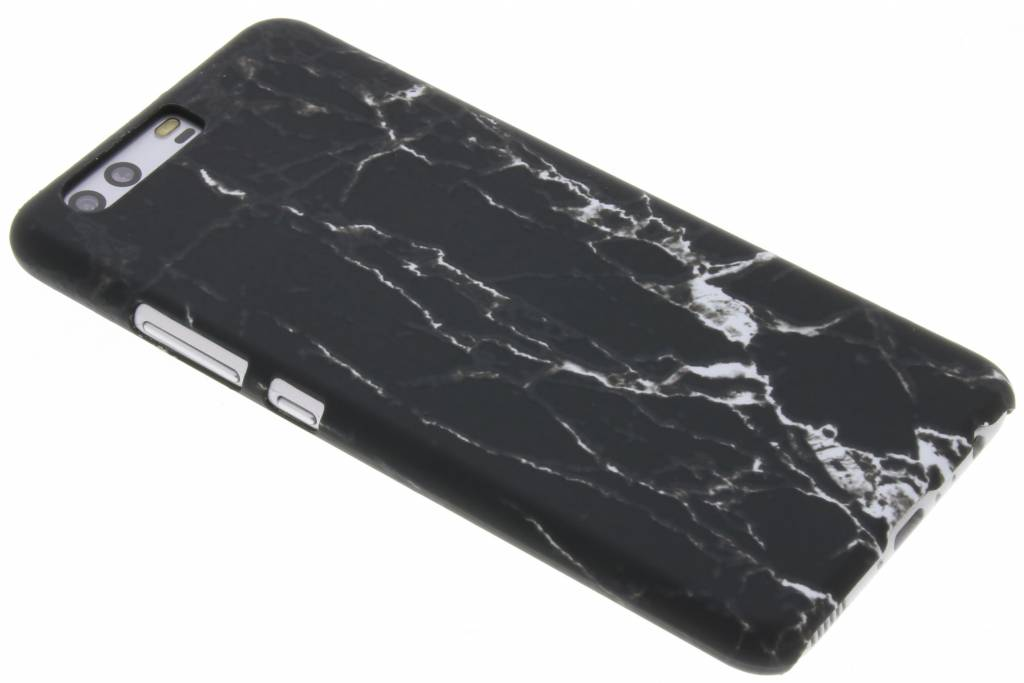 Zwart marmer design hardcase hoesje voor de Huawei P10