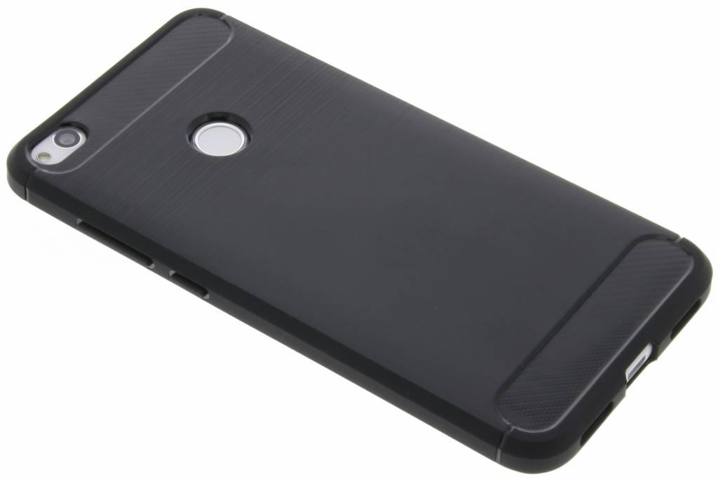 Zwarte Brushed TPU case voor de Huawei P8 Lite (2017)
