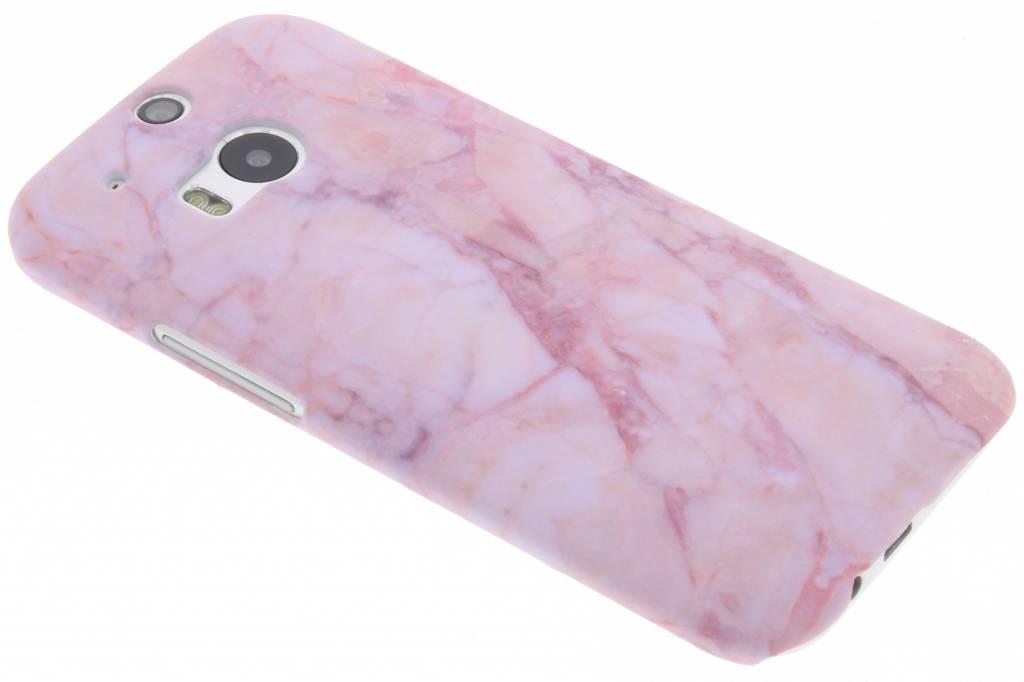 Roze marmer design hardcase hoesje voor de HTC M8 / M8s