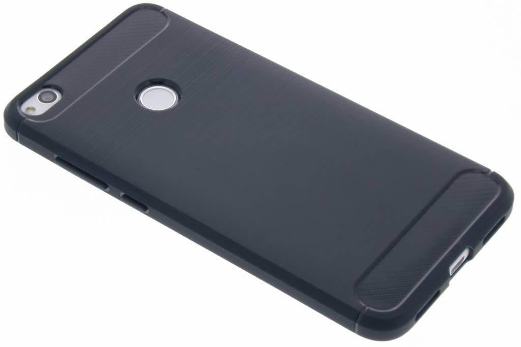 Donkerblauwe Brushed TPU case voor de Huawei P8 Lite (2017)
