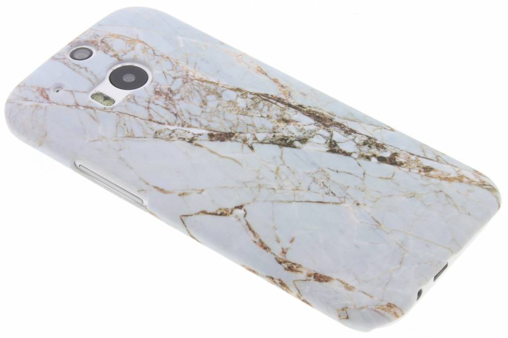 Wit marmer design hardcase hoesje voor de HTC M8 / M8s