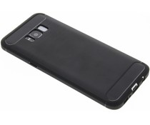 Zwart Brushed TPU case Samsung Galaxy S8 Plus