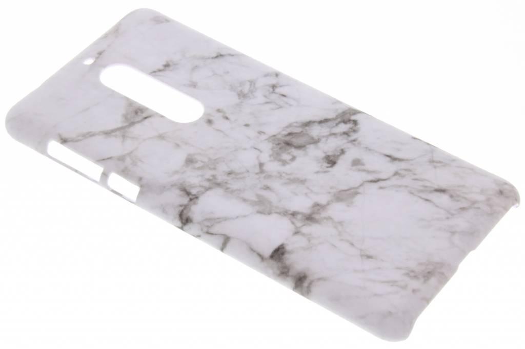Wit marmer design hardcase hoesje voor de Nokia 5