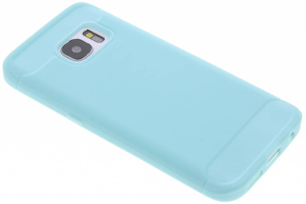 Turquoise Brushed TPU case voor de Samsung Galaxy S7