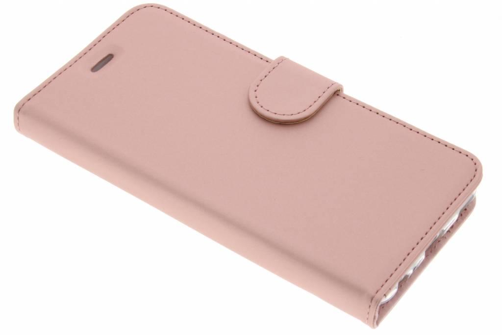 Accezz Rosé Gouden Wallet TPU Booklet voor de Huawei P10