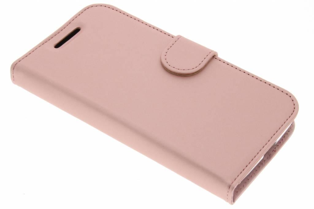 Accezz Roze Wallet TPU Booklet voor de Motorola Moto G4 Play