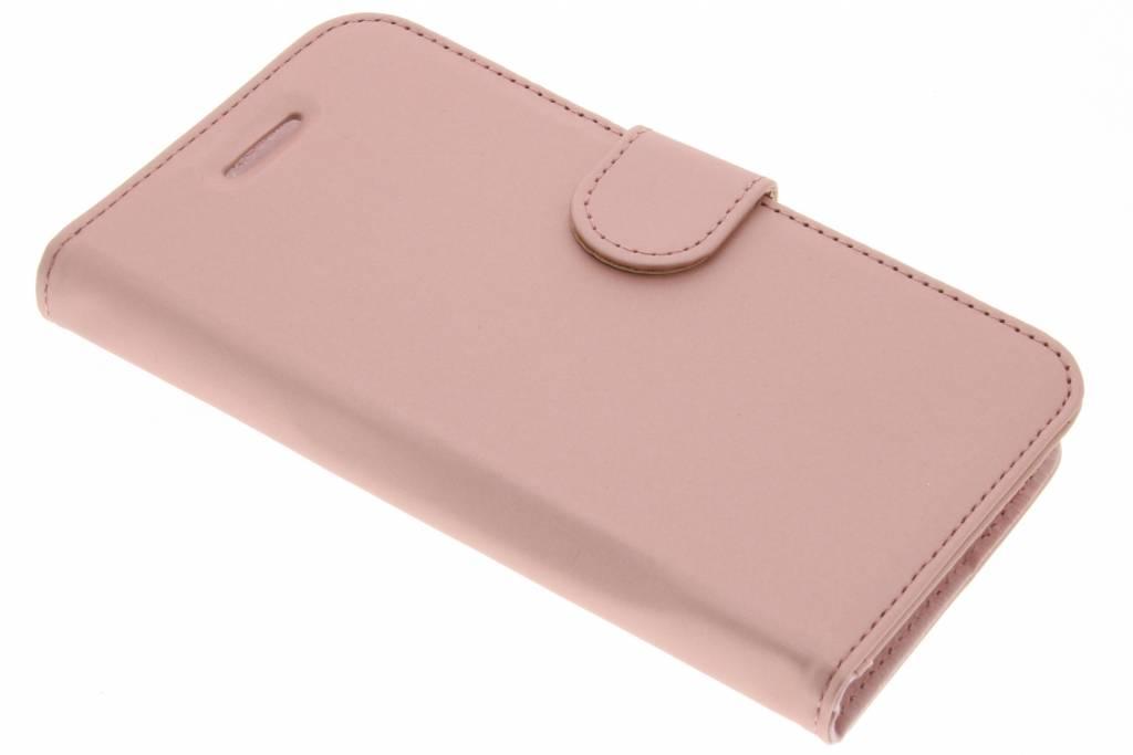 Accezz Rosé Gouden Wallet TPU Booklet voor de Lenovo C2 Power