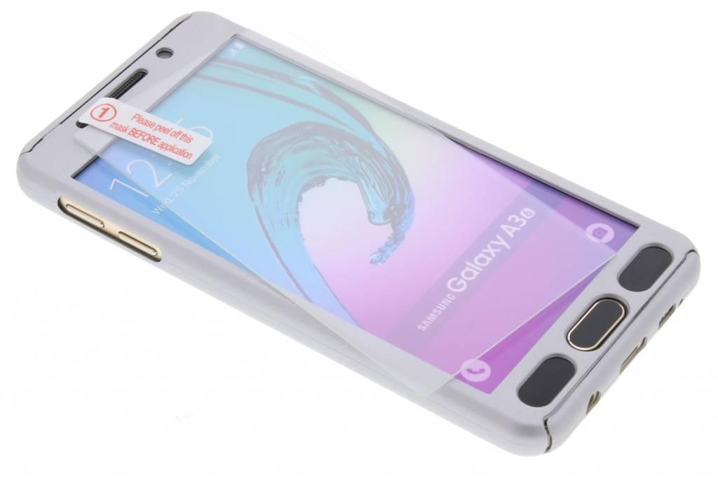 Zilveren 360° effen protect case voor de Samsung Galaxy A3 (2016)