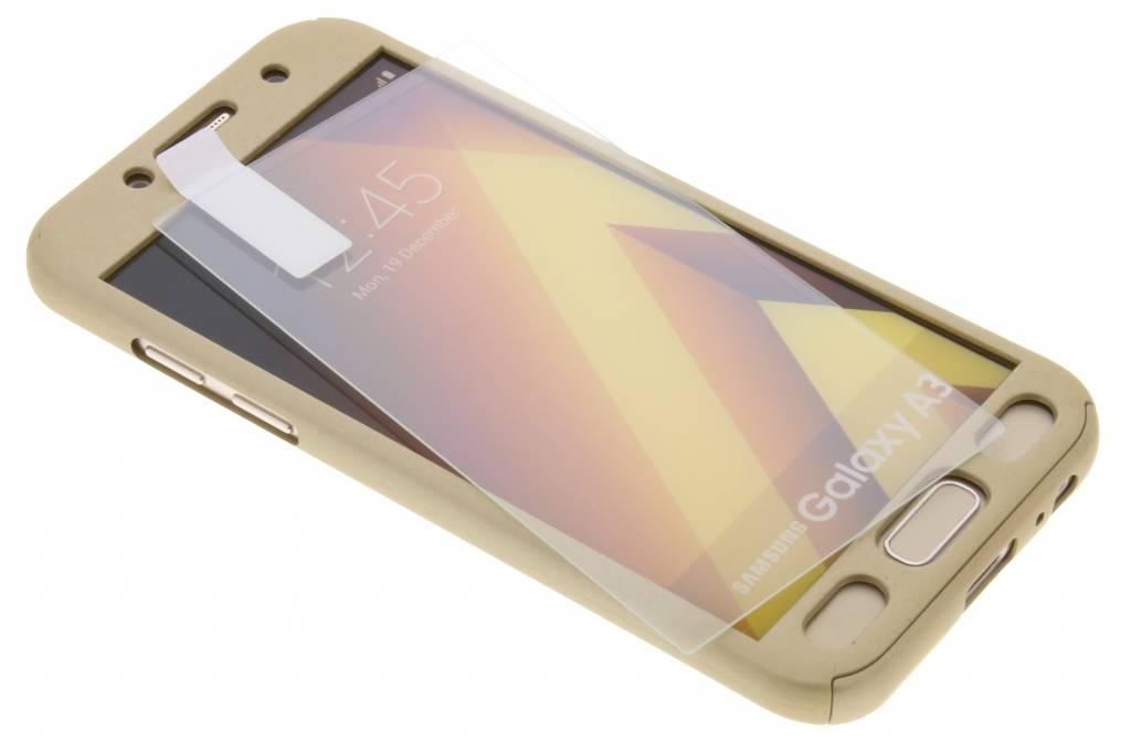 Gouden 360° effen protect case voor de Samsung Galaxy A3 (2017)