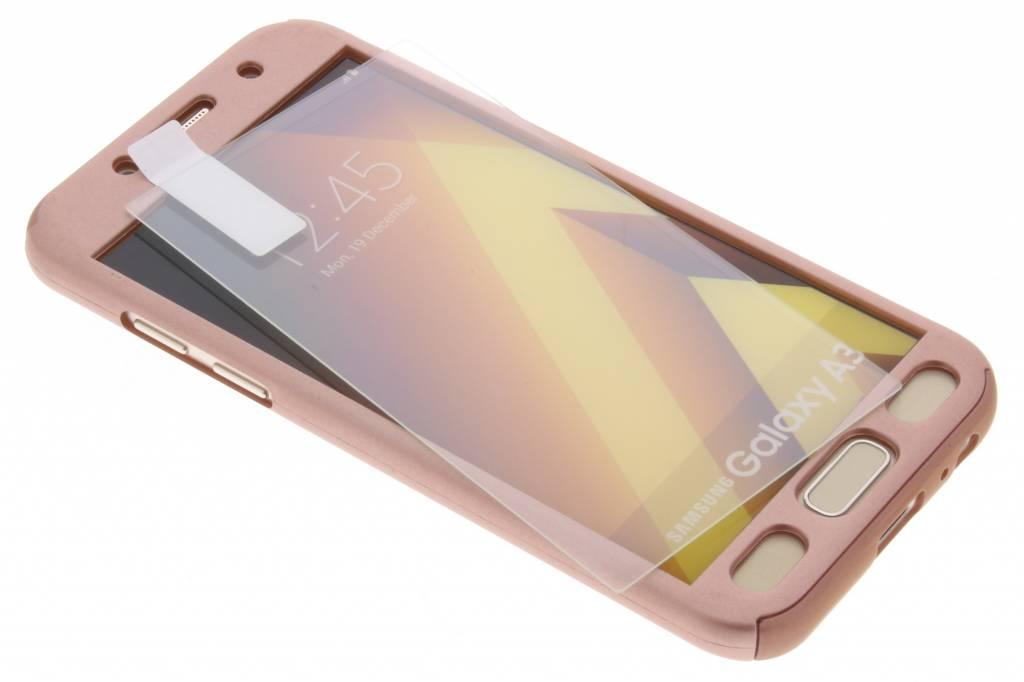 Roze 360° effen protect case voor de Samsung Galaxy A3 (2017)