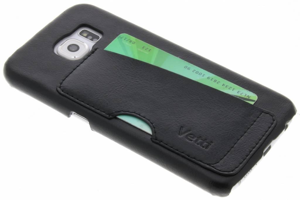 Zwarte Card Slot Snap Cover voor de Samsung Galaxy S6